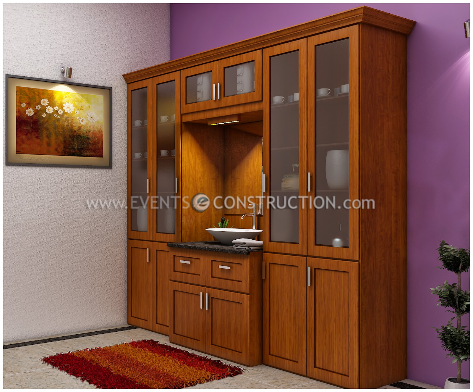 Evens Construction Pvt Ltd Wooden Crockery With Wash Area