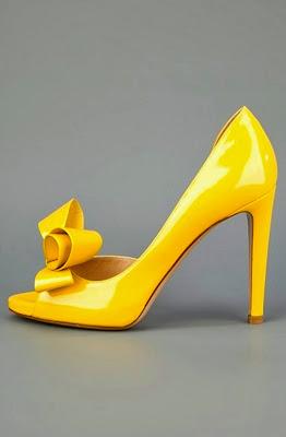 Gorgeous Yellow Heel Shoe