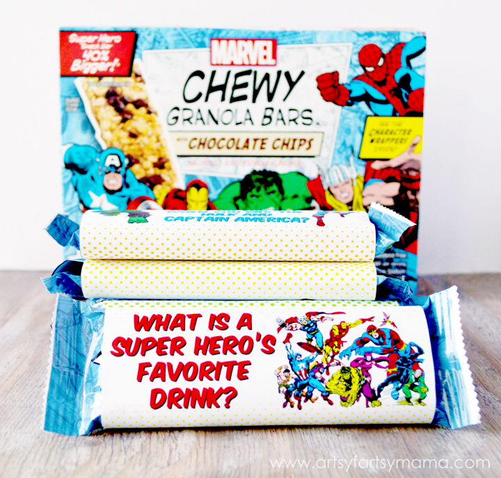 Free Printable MARVEL Chewy Granola Bar Wrappers | artsy ...
