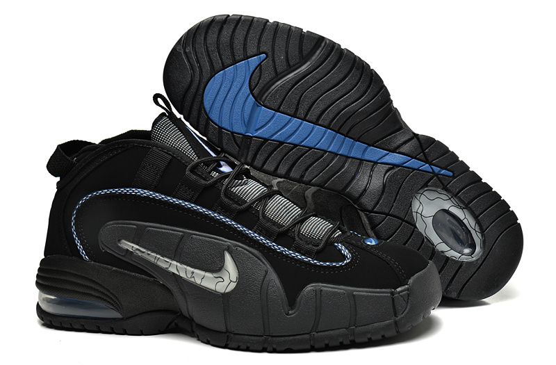 Nike Air Max Penny Hardaway 1 BlueBlackWhite Basketball Shoes On | Fashion's Feel | Tips and ...