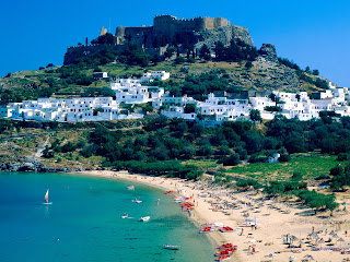 Rhodes Island - The white town Lindos - Greece
