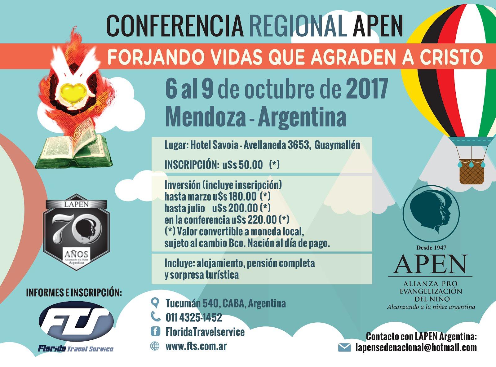 CONFERENCIA REGIONAL APEN 2017