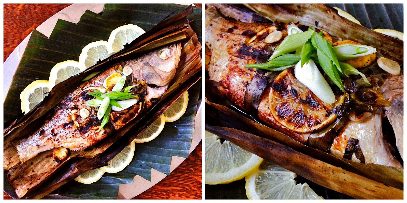 is for: Grilled Striped Bass In Banana Leaf {guest post}