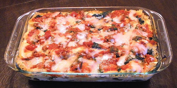 Spinach and Italian Sausage Lasagna