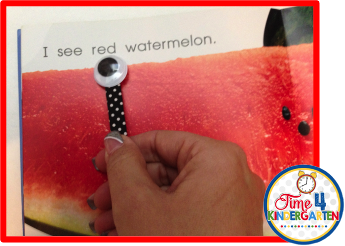 wiggly eye reading pointers, time 4 kindergarten, kindergarten pointers, bright ideas blog hop
