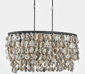New! Oyster Chandelier from Currey & Co.