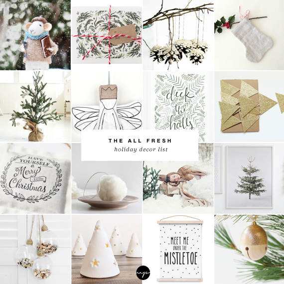 The all fresh holiday decor list | My Paradissi