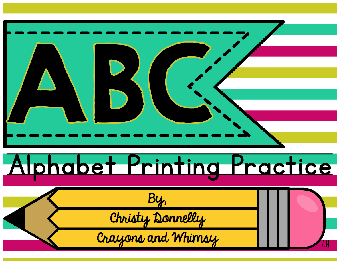 alphabet printing handwriting practice crayons and whimsy
