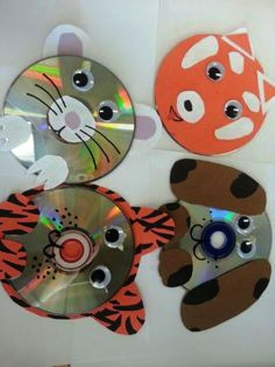 Cd art project for kids art projects art ideas for Waste cd craft ideas