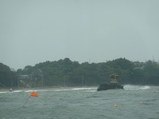 Small island in matsushima bay that has almost completely eroded