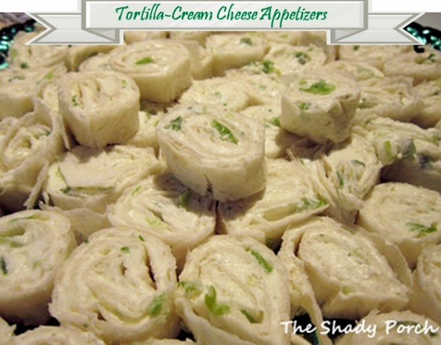 Tortilla Cream Cheese Appetizer #snack #spread #holiday #partyfood