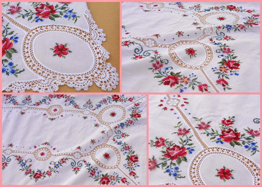 Скатерти ручной работы с вышивкой