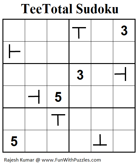 TeeTotal Sudoku (Mini Sudoku Series #58)