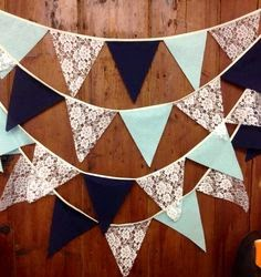 https://www.etsy.com/listing/181958085/ivory-lace-mint-navy-wedding-bunting