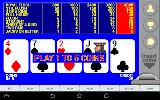 Screenshots of the Video Poker Max Win for Android tablet, phone.