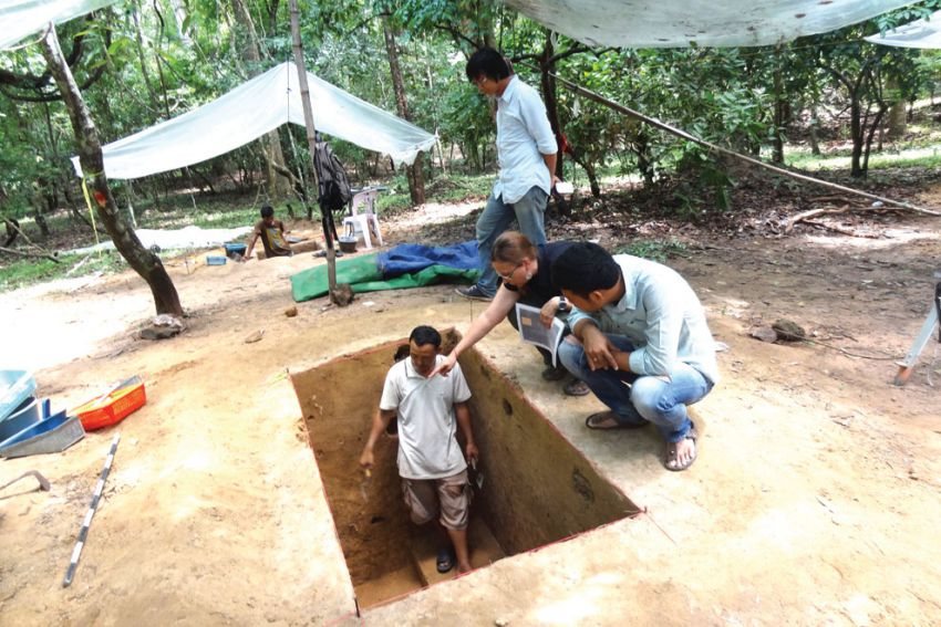 Archaeologists digging in search of common people at Angkor Wat