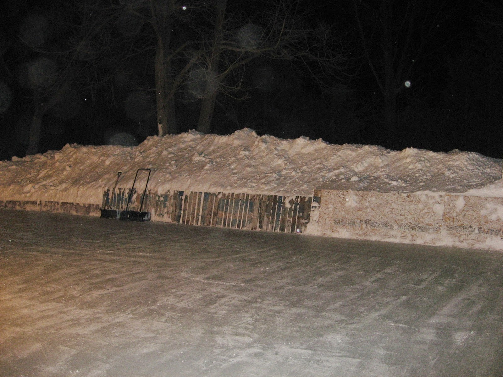 the evolution of a backyard rink