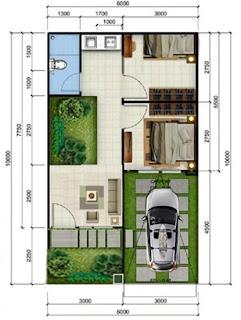 gambar denah rumah type 36 terbaru