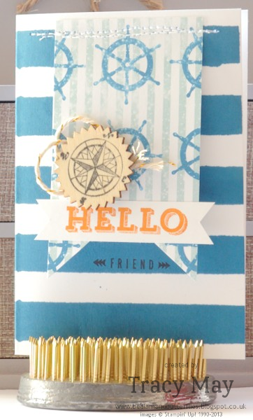 Stampin up High Tide DSP Peachy Keen The Open Sea card marking Tracy May