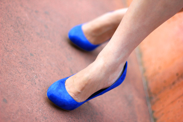 Zara Cobalt Blue Pumps