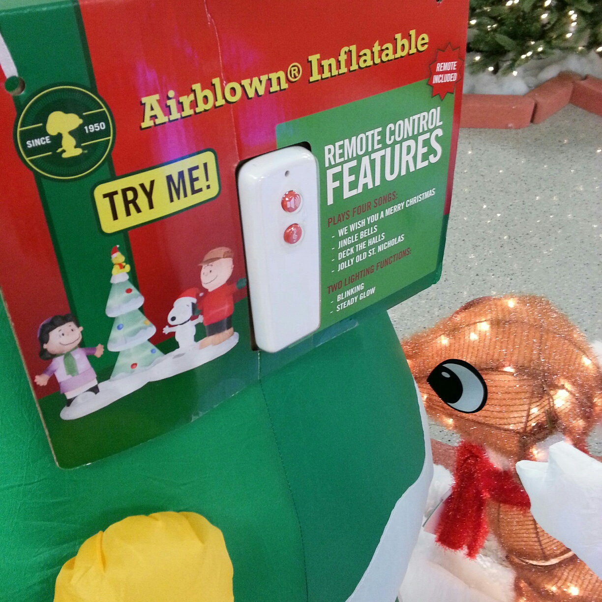here are the top items this charlie brown christmas outdoor inflatable display and animated rudolph complete with flashing red nose i want these - Sears Christmas Decorations