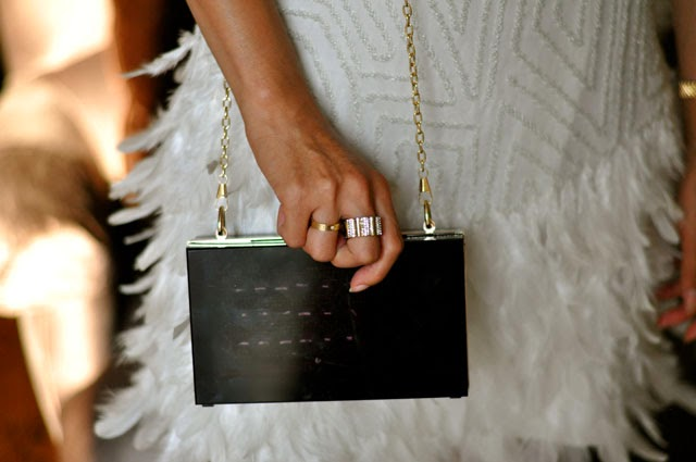 t+j Designs lucite clutch
