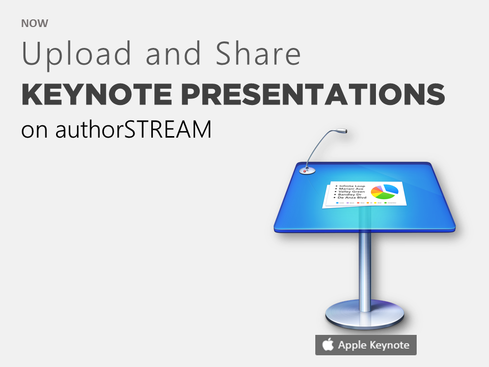 powerpoint info upload and share apple keynotes key online via