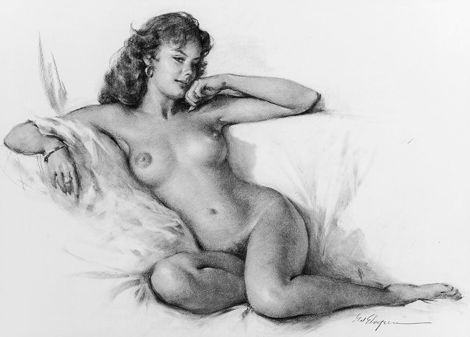 nude pin up drawing