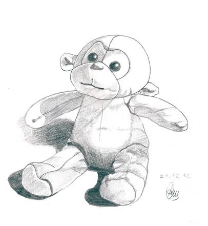 обезьянка карандаш