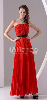 Simple raisin longueur mousseline bretelles Womens robe de soirée