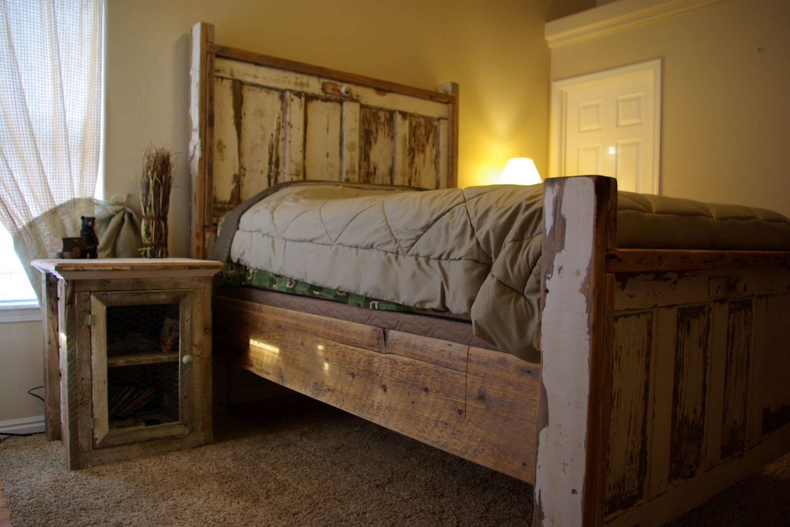 reclaimed rustics vintage door headboard