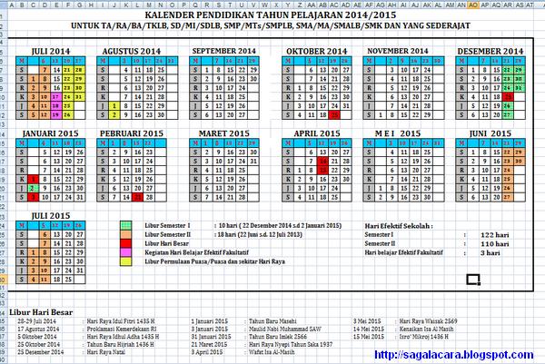 download kalender pendidikan 2014/2015 untuk semua jenjang (Jawa Barat