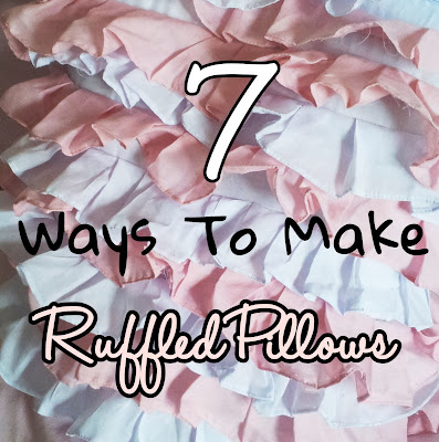different styles of ruffle pillow