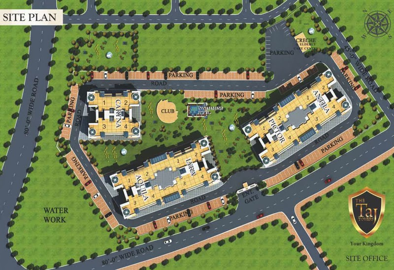 Site plan taj towers mohali near chandigarh