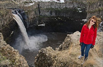 Teresa Foster and Palouse Falls.
