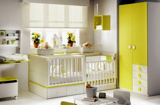 Babykamers tweeling ledikant 4 in 1 ros babykamer voor for Tweeling ledikant