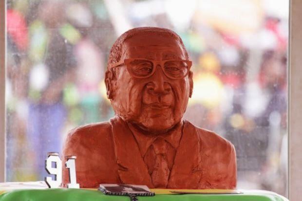 Stik Gajah Hidangan Hari Lahir Ke 91 Mugabe