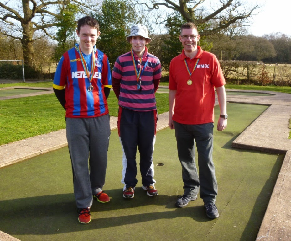 The Midlands Open podium, from l-r Will Donnelly, Michael Smith, Richard Gottfried