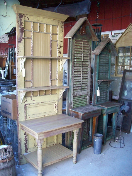 Benches Made From Old Doors