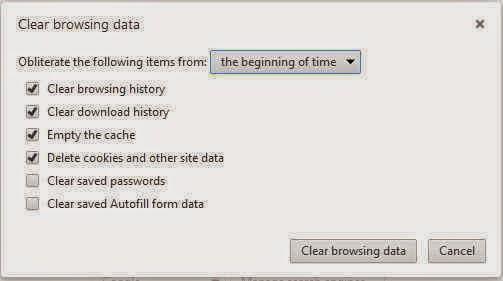 Bersihkan data browser