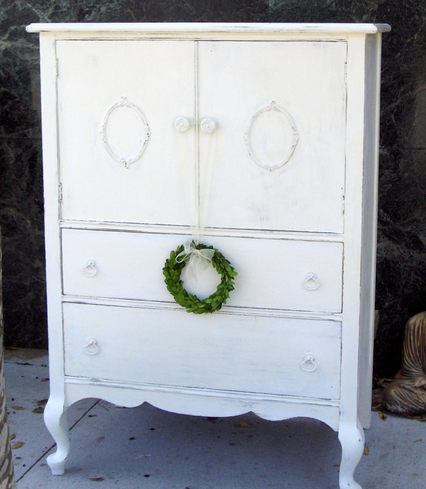 Beautiful, Solid Wood White Dresser, Shabby Chic Style
