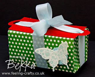 Cute little Butterfly Box by Stampin' Up! Demonstrator Bekka Prideaux www.feeling-crafty.co.uk