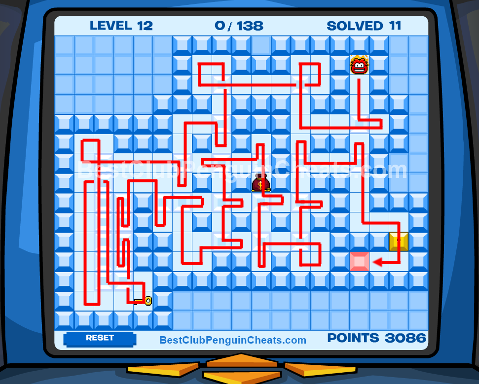 Club Penguin Thin Ice Cheats Level 12
