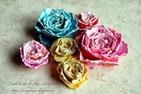 мк бумажные цветочки