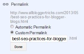 Blogger Permalink
