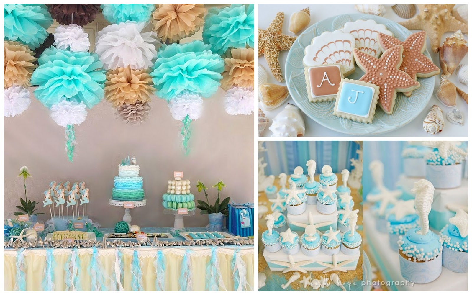 Beach Themed Reception Decorations