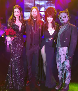 LeeAnna Vamp with Fiend, Elvira and Knott's Scary Farm creature