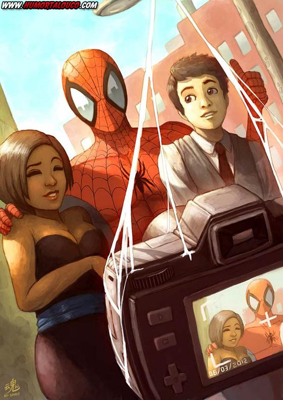 18 animações do mundo dos vídeos games e desenhos - Spider man e amigos