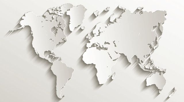 World 3D Map white color
