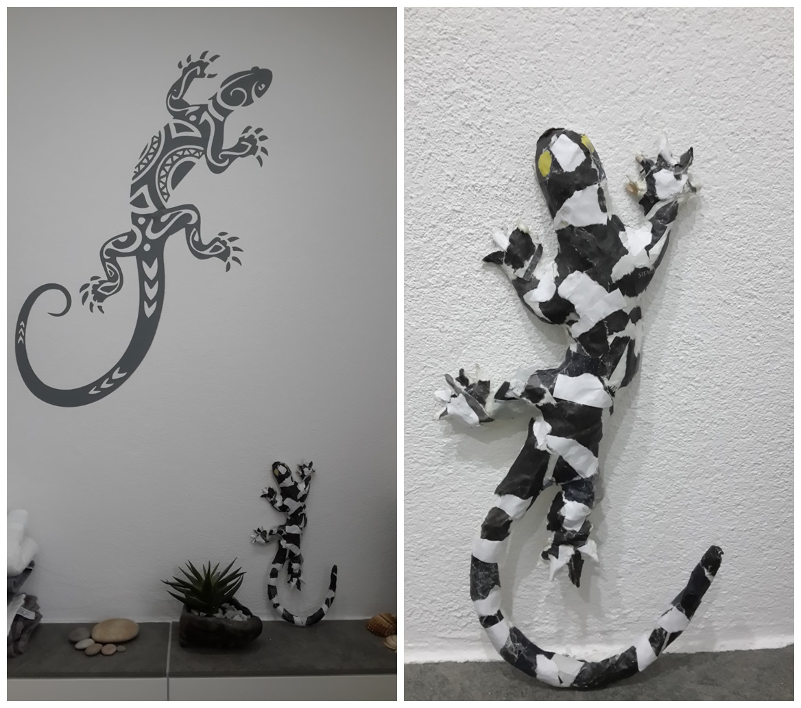 pappmache gecko mary 39 s kreativ blog. Black Bedroom Furniture Sets. Home Design Ideas